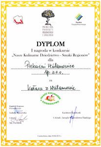 Dyplom - I nagroda - Kołacz z Wilamowic