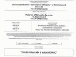 Certyfikat Zgodności - Chleb Graham z Wilamowic