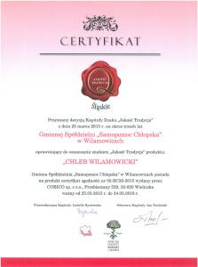 Certyfikat - Chleb Wilamowicki