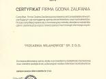 Certyfikat Firma Godna Zaufania 2015
