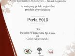 Certyfikat Nagrody Perła 2015